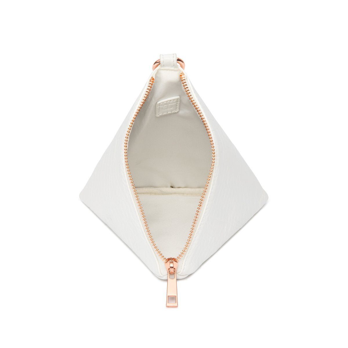 Pochette Pyramide Lilly (Blanc Poudré/Rose Gold)