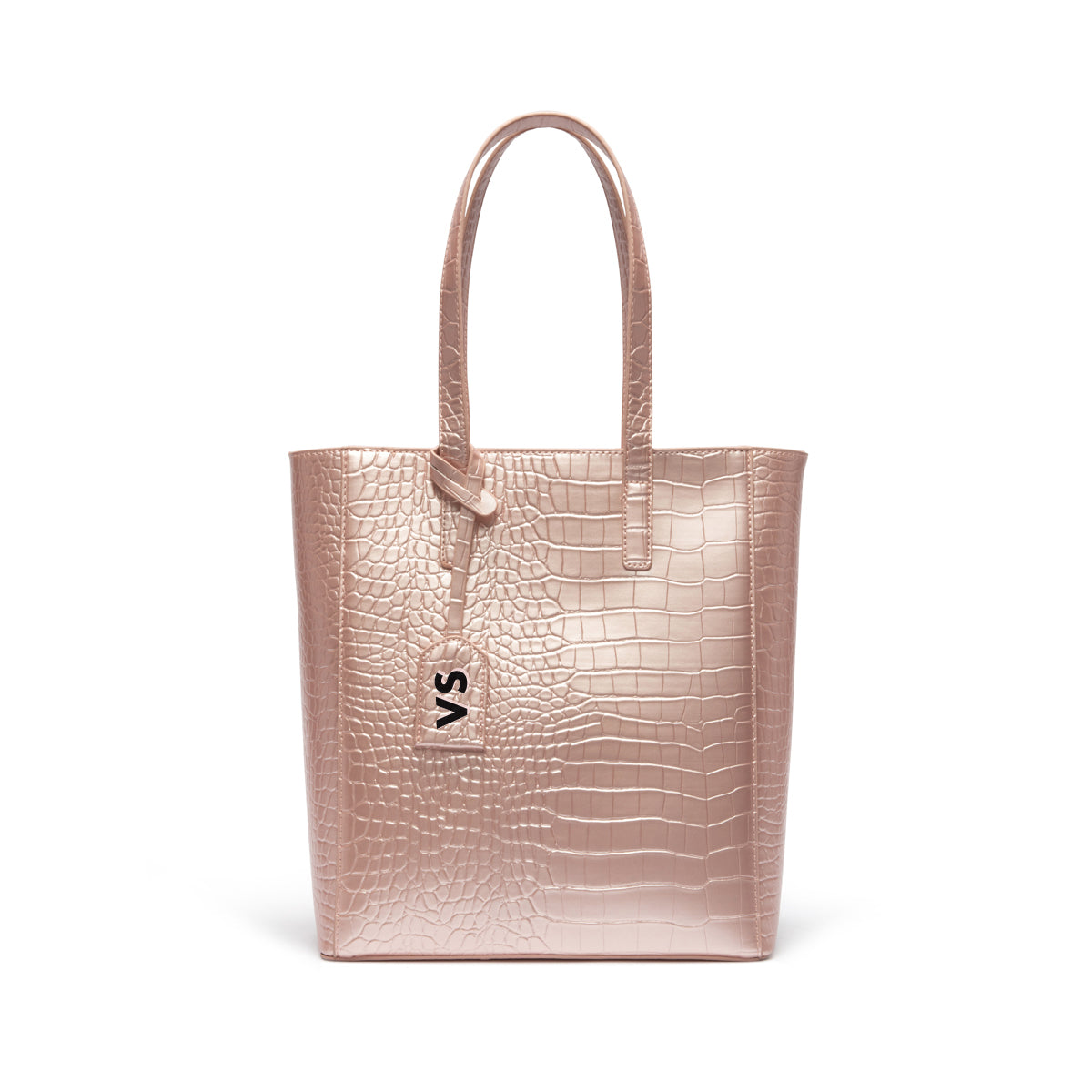 Tote Bag Cora (Rose Poudré Brillant/Rose Gold)