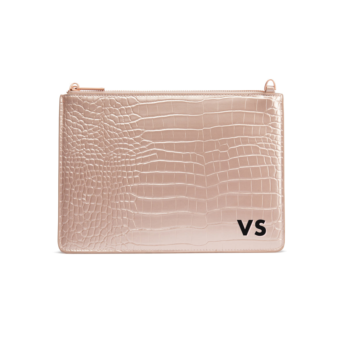 Pochette Naomi (Rose Poudré Brillant/Rose Gold)