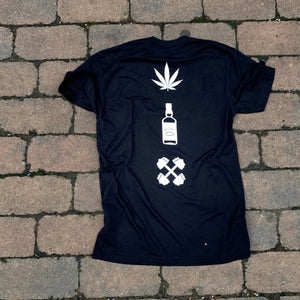 Weed, Whiskey, & Weights tee