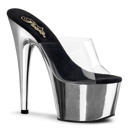 Pleaser-Platforms-(Exotic-Dancing)-ADORE-701-Clr-and-Slv-Chrome