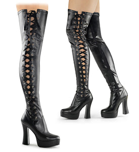 Pleaser-Platforms-(Exotic-Dancing)-ELECTRA-3050-Blk-Str-Faux-Leather
