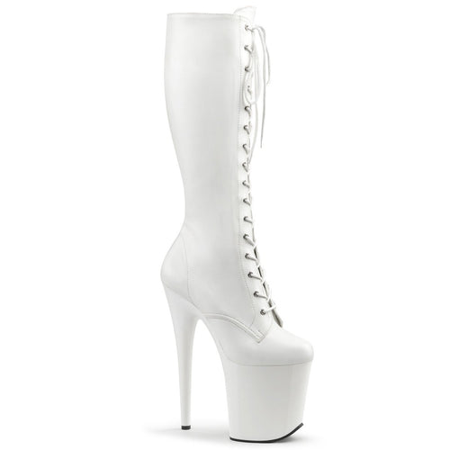 Pleaser-Platforms-(Exotic-Dancing)-FLAMINGO-2023-Wht-Str-Faux-Leather-and-Wht