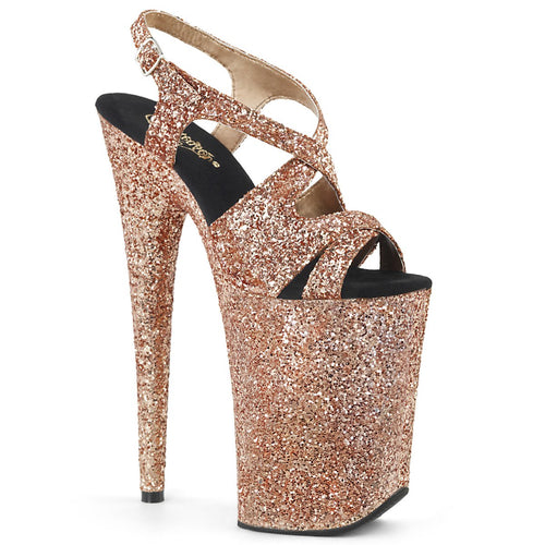 Pleaser-Platforms-(Exotic-Dancing)-INFINITY-930LG-Rose-Gold-Glitter-and-Rose-Gold-Glitter