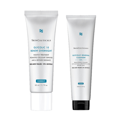 GLYCOLIC RENEWAL CLEANSER + GLYCOLIC 10 RENEW OVERNIGHT