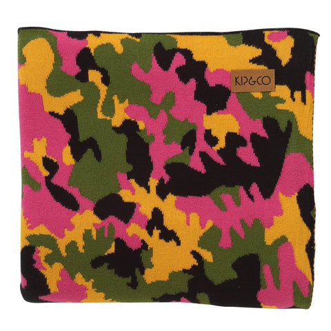 CAMO PINK COTTON BLANKET