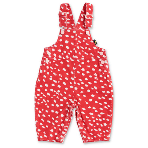 Speckles Red Corduroy Overalls