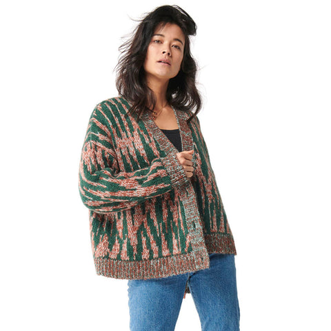 Aligator Oversized Knitted Short Cardigan