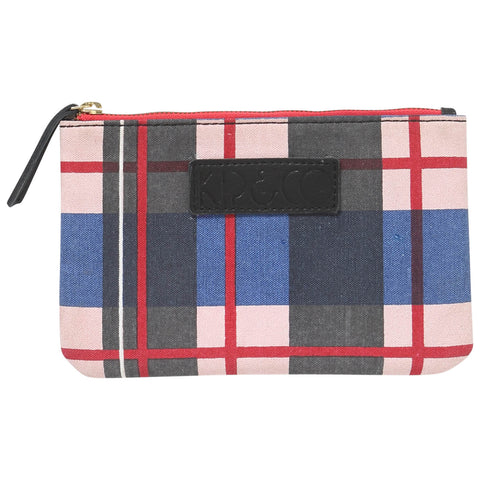 Tartan Denim Cosmetics Purse