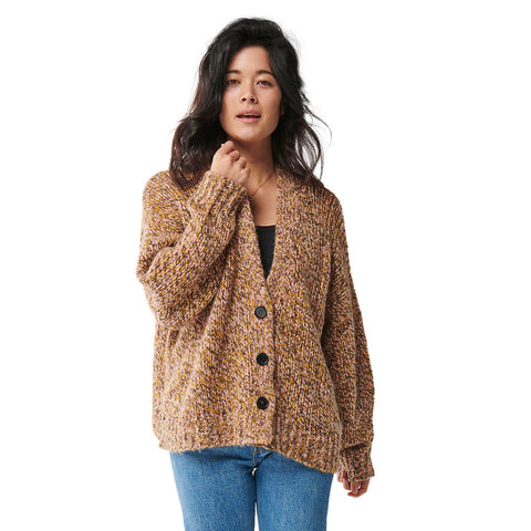 Dusk Til Dawn Melange Oversized Knitted Short Cardigan