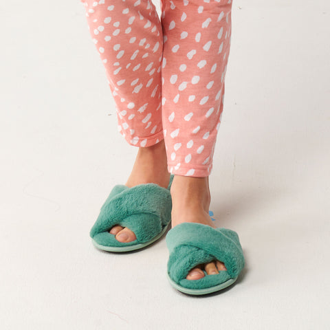 Jade Green Adult Slippers