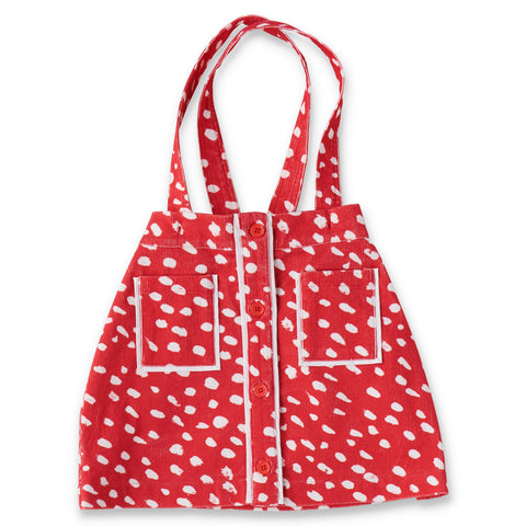 Speckles Red Corduroy Pinafore