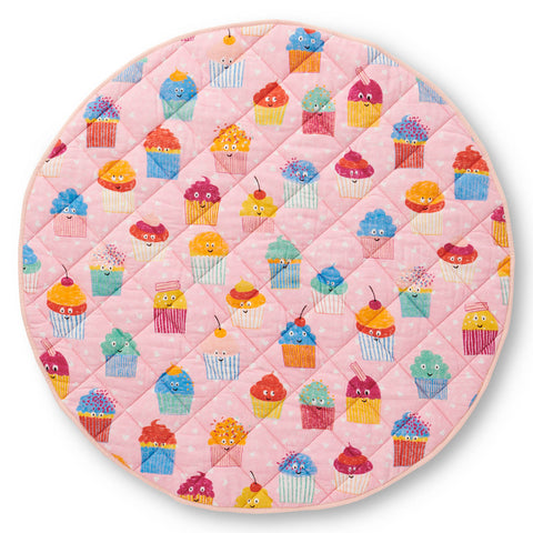Cupcakes Quilted Baby Play Mat