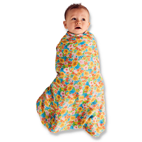 Spring Pollen Bamboo Swaddle