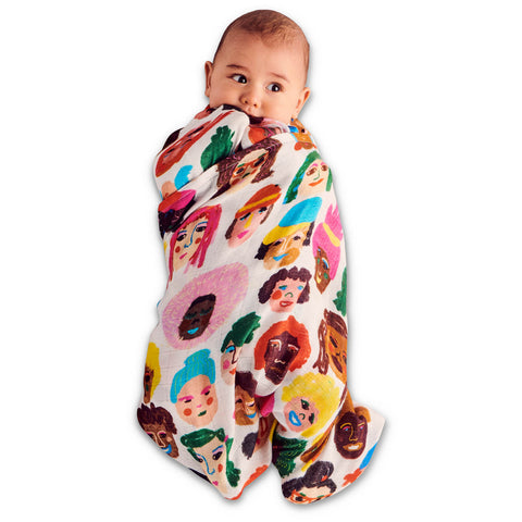 Sisters Bamboo Swaddle