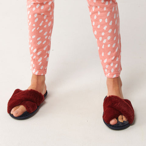 Midnight Merlot Adult Slippers
