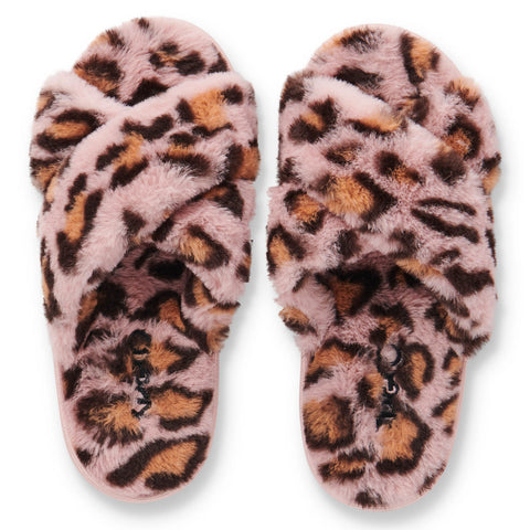 Pink Cheetah Kids Slippers