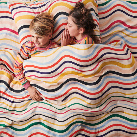 Ripple Rainbow Cotton Quilt Cover