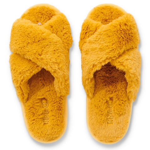 Sunshine Yellow Adult Slippers