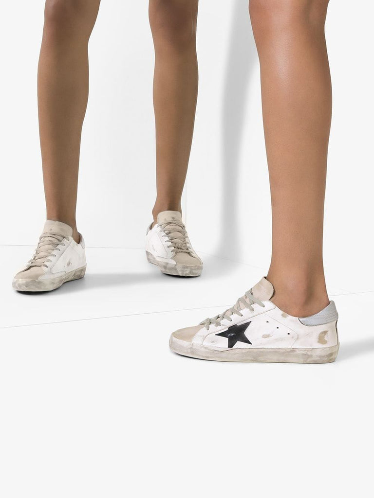 Golden Goose White Star Detail Trainers 6