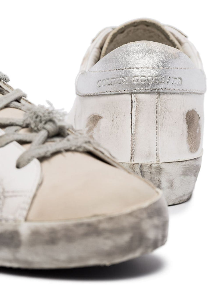 Golden Goose White Star Detail Trainers 3