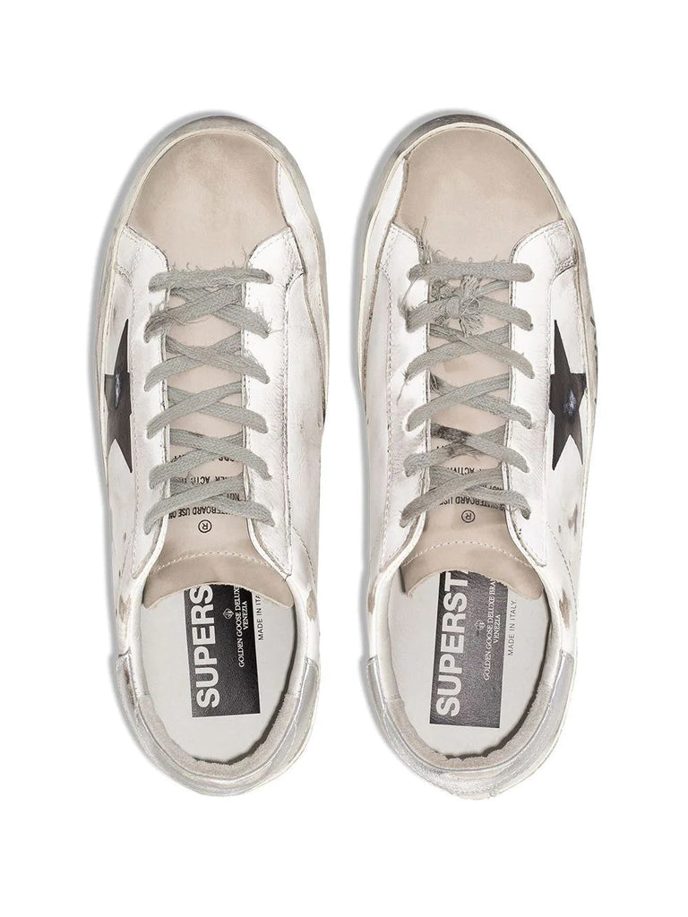Golden Goose White Star Detail Trainers 8