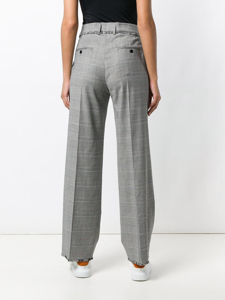 'Houndstooth' Flared Trousers