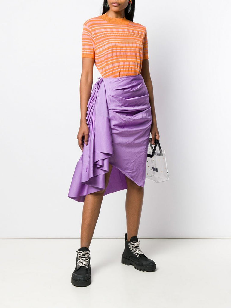 Solace London Purple Ruffle Detail Skirt 1
