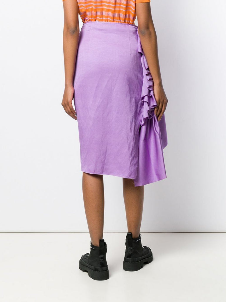 Solace London Purple Ruffle Detail Skirt 2