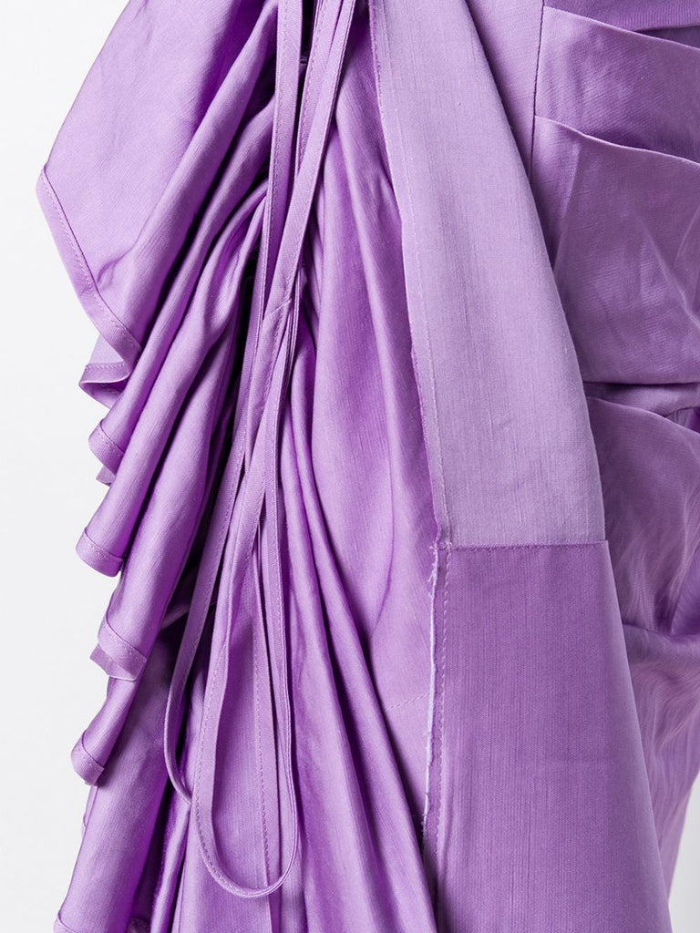 Solace London Purple Ruffle Detail Skirt 3