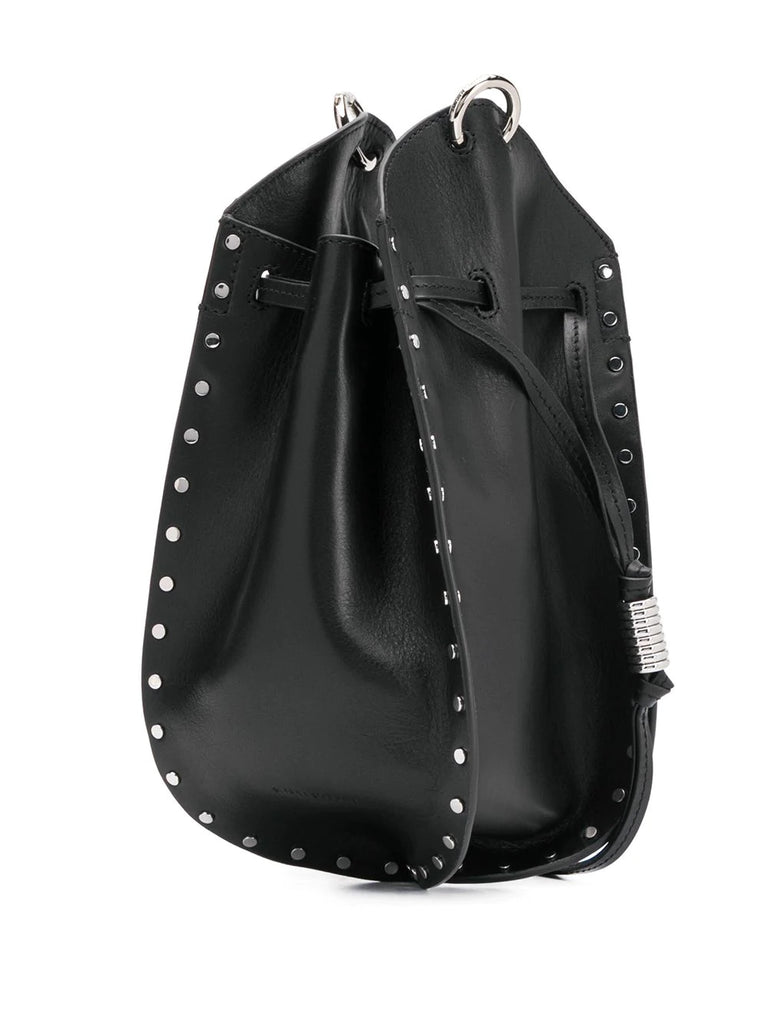 Isabel Marant Black Silver Studded Bucket Bag 3