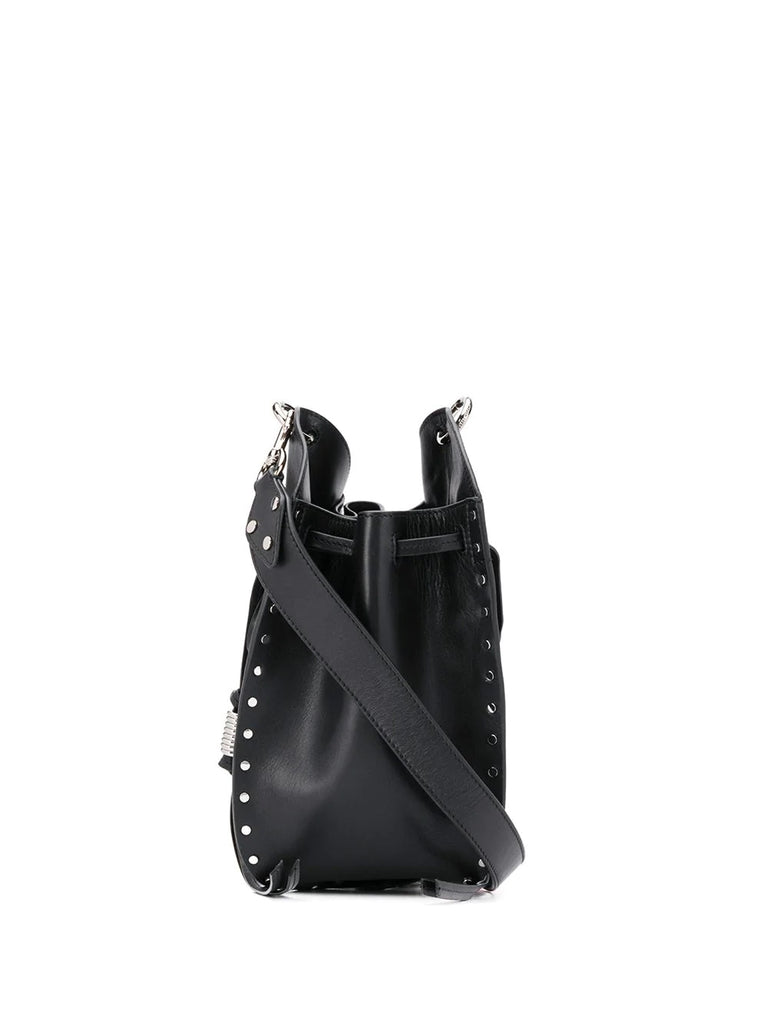 Isabel Marant Black Silver Studded Bucket Bag