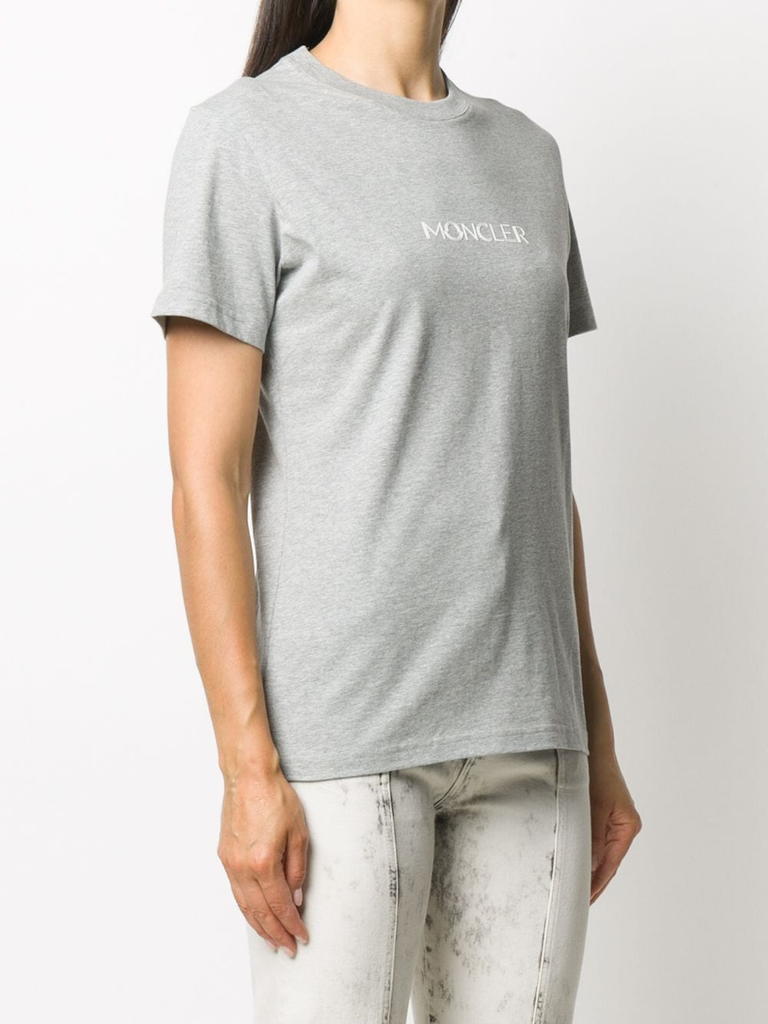 Moncler Grey Logo T Shirt 2