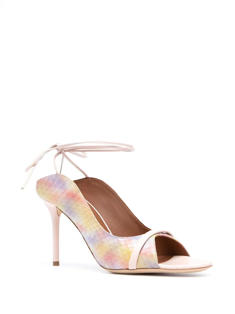 Malone Souliers Pastel Ankle Tie Mules   1
