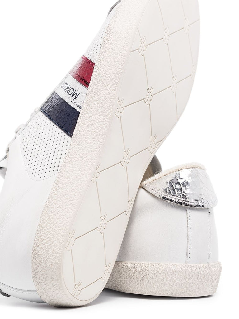 Moncler White Logo Stripe Trainers 2