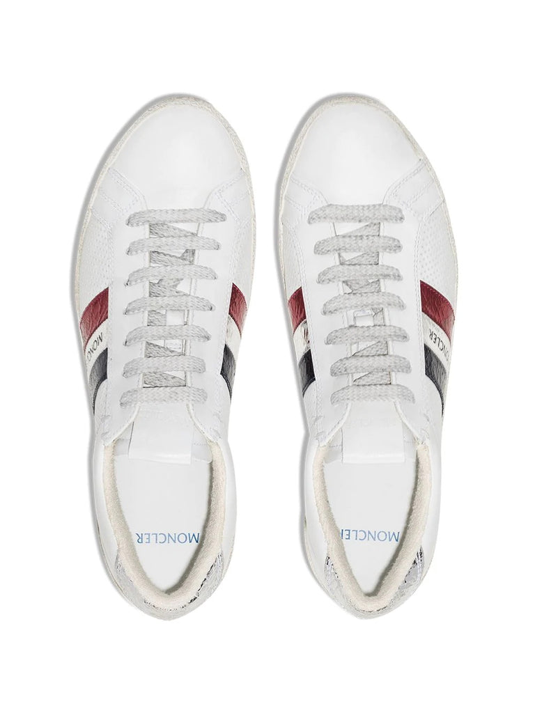 Moncler White Logo Stripe Trainers 3