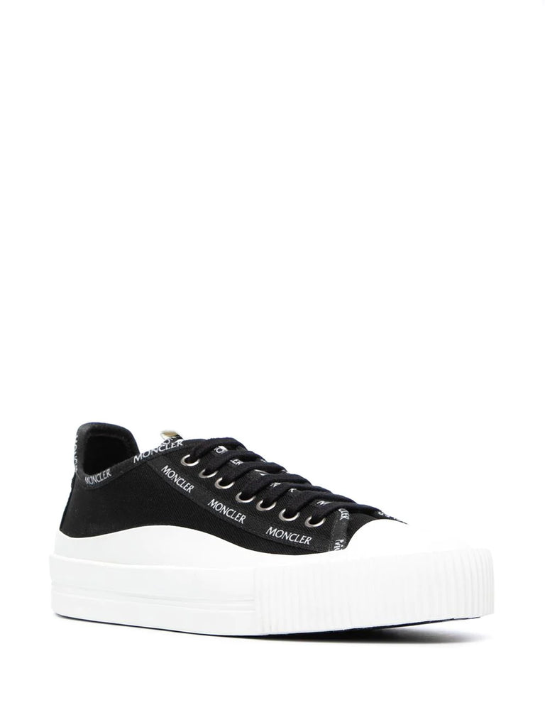 Moncler Black White Logo Detail Trainers 1