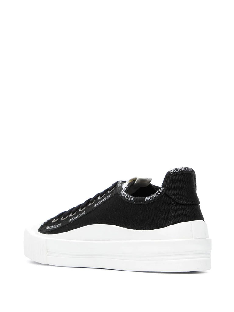 Moncler Black White Logo Detail Trainers 2