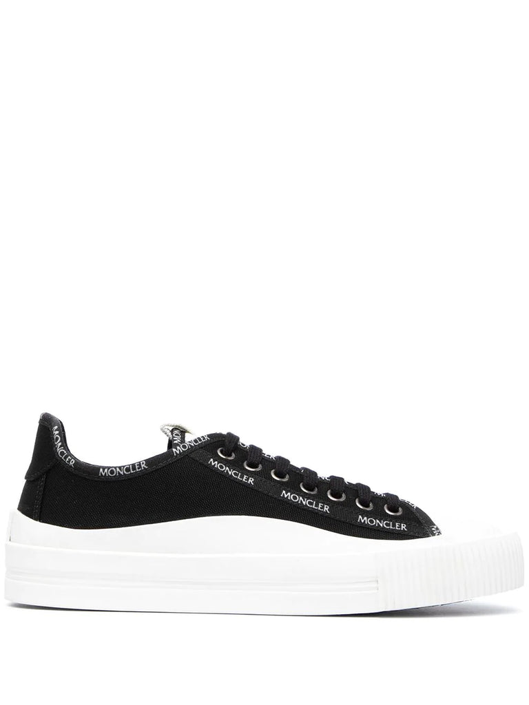 Moncler Black White Logo Detail Trainers