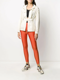 Moncler Orange Branded Leggings 1