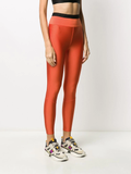 Moncler Orange Branded Leggings 3