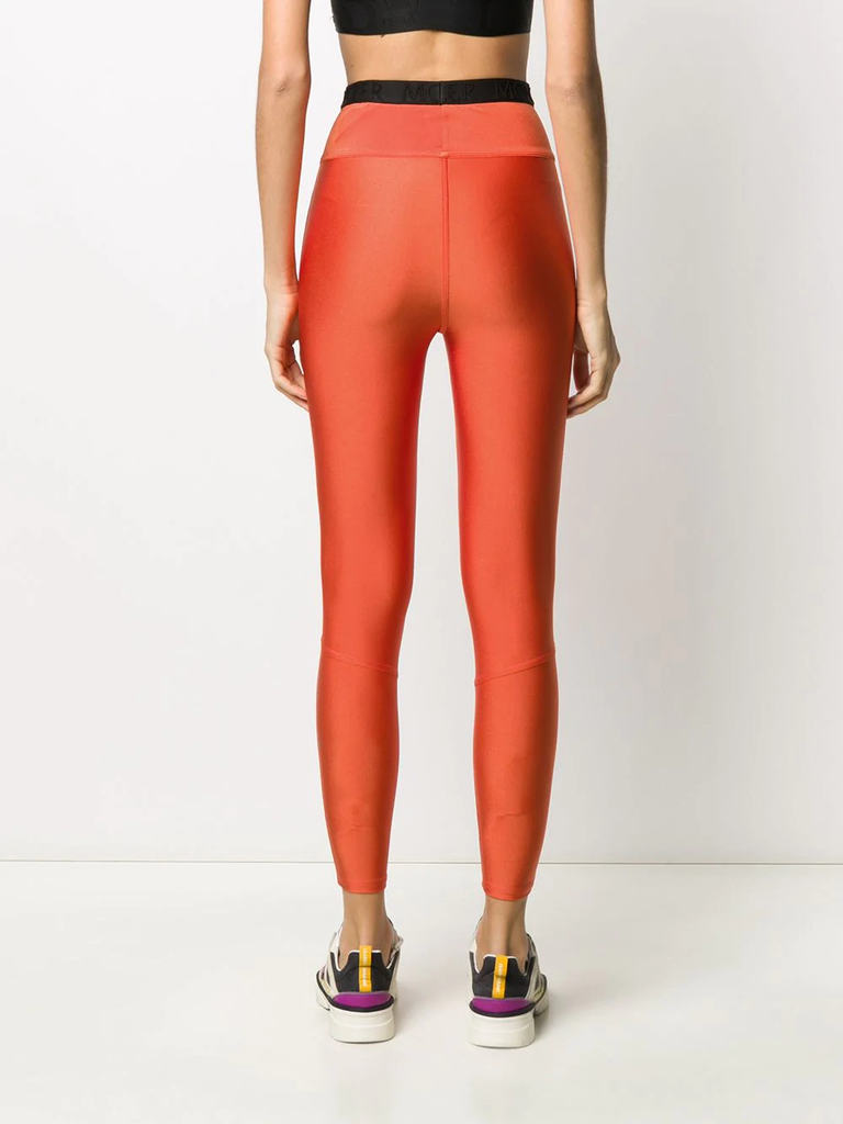 Moncler Orange Branded Leggings 4