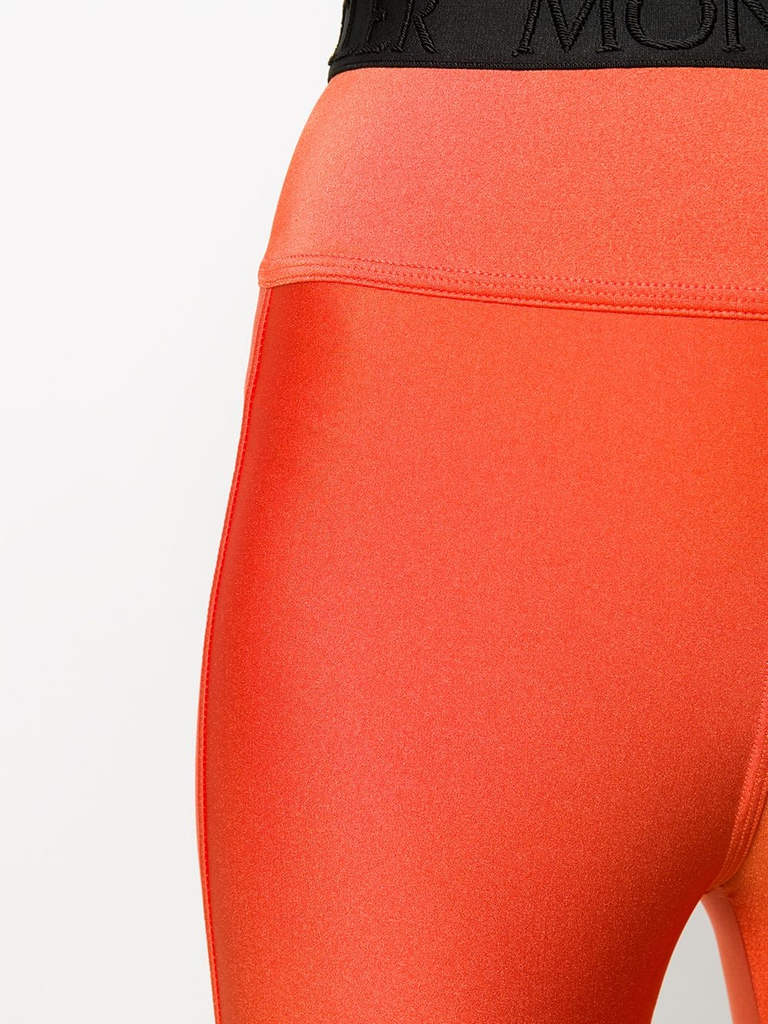 Moncler Orange Branded Leggings 5