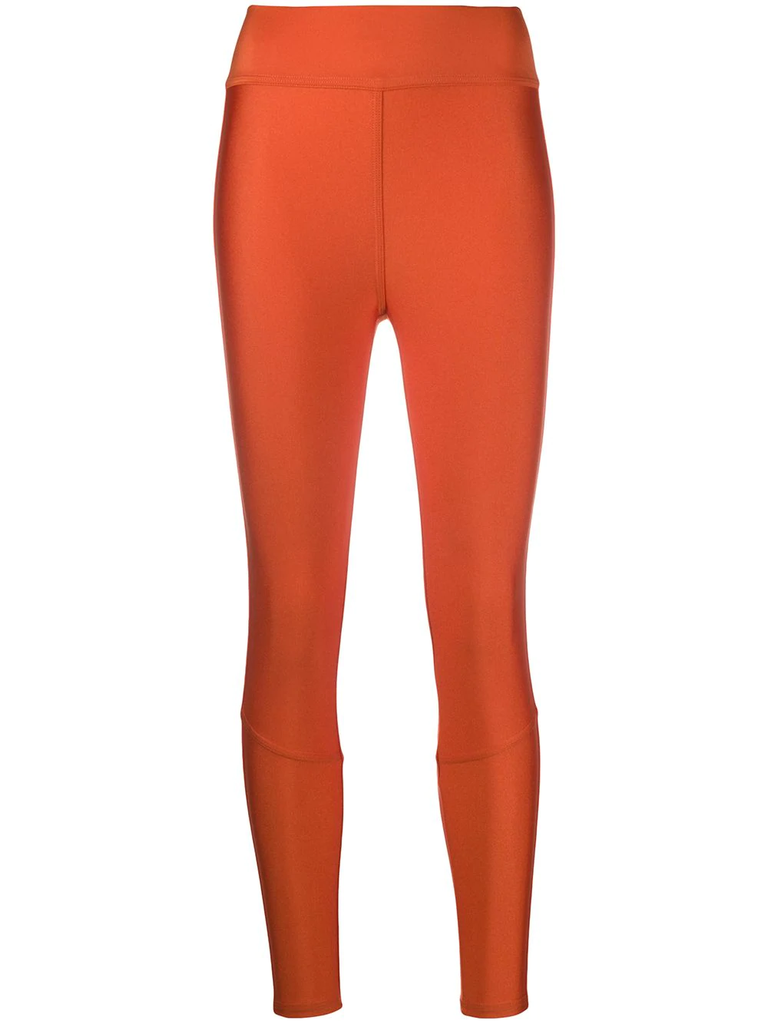 Moncler Orange Branded Leggings
