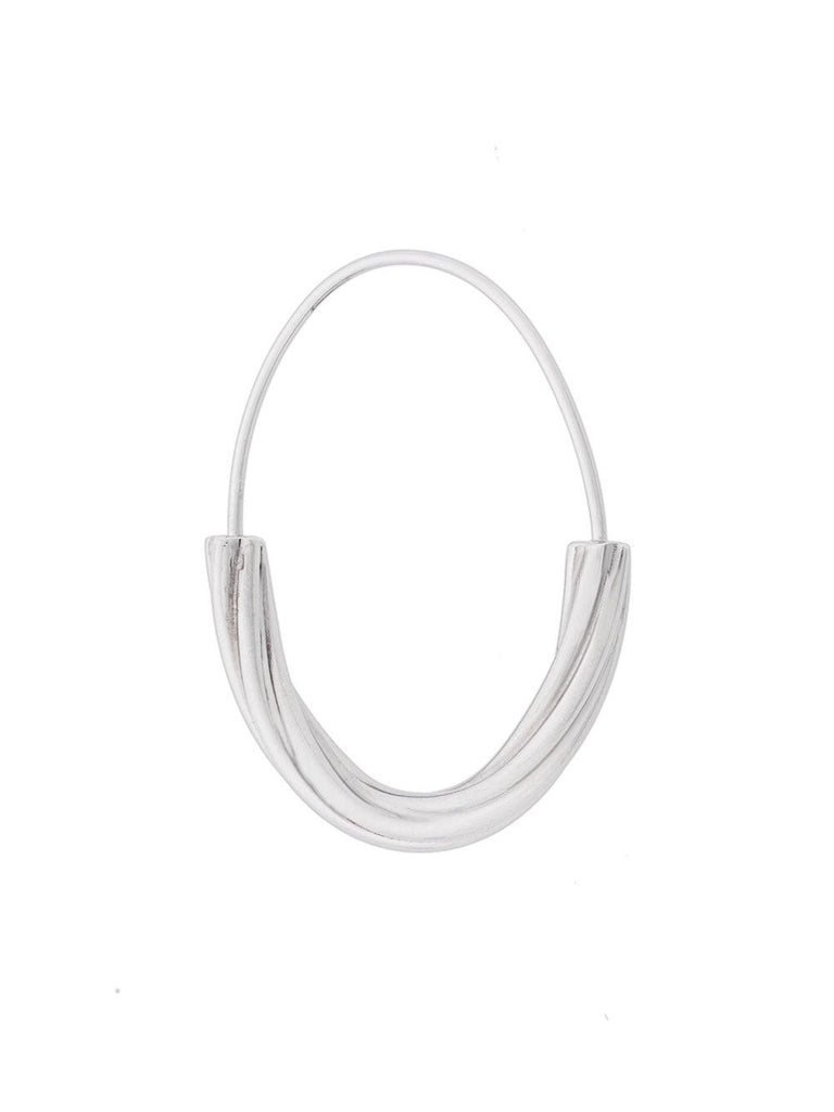 Maria Black Silver Twisted Hoop Earring