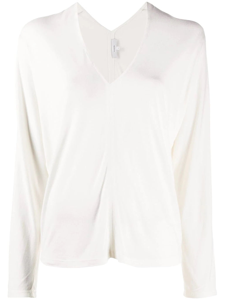 Vince White V-Neck Top