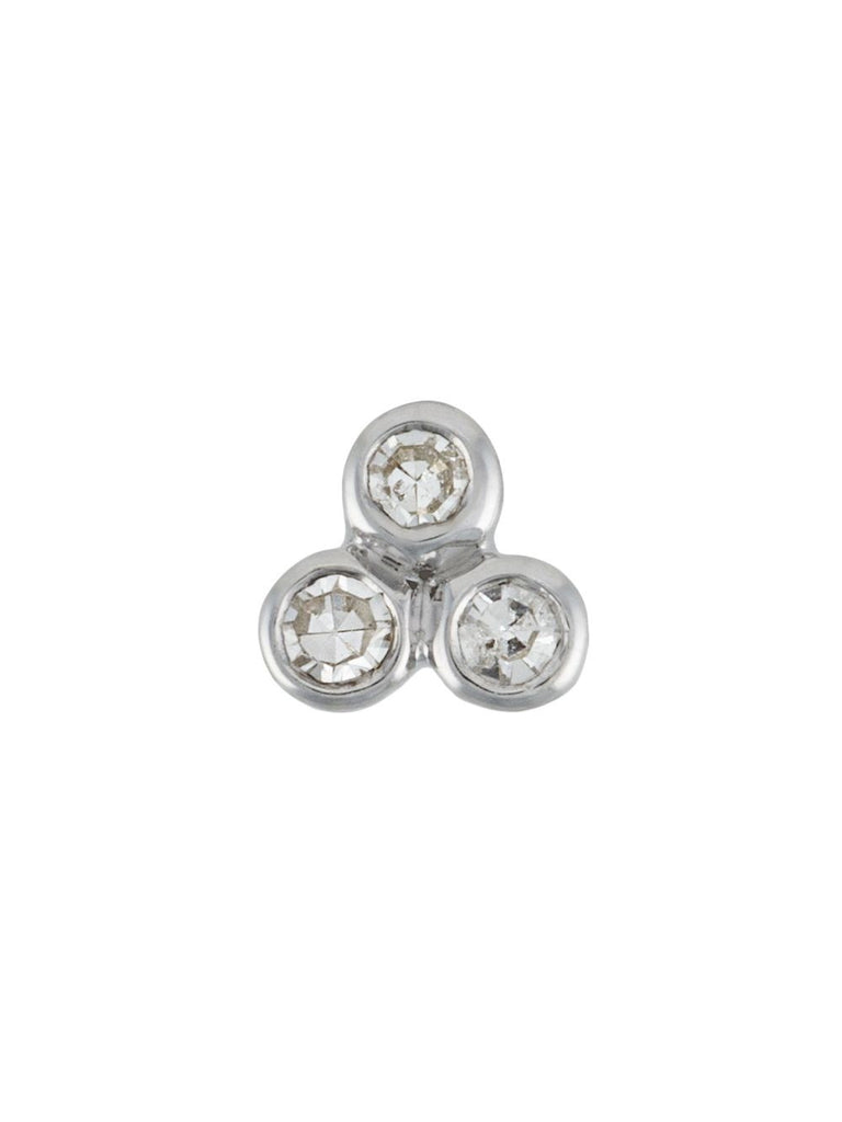 Maria Black Silver Diamond Trio Stud