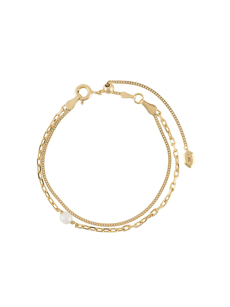 Maria Black Gold Chain Bracelet