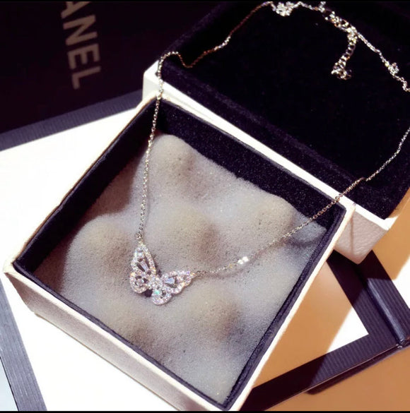 Baby Butterfly (Silver)  Necklace
