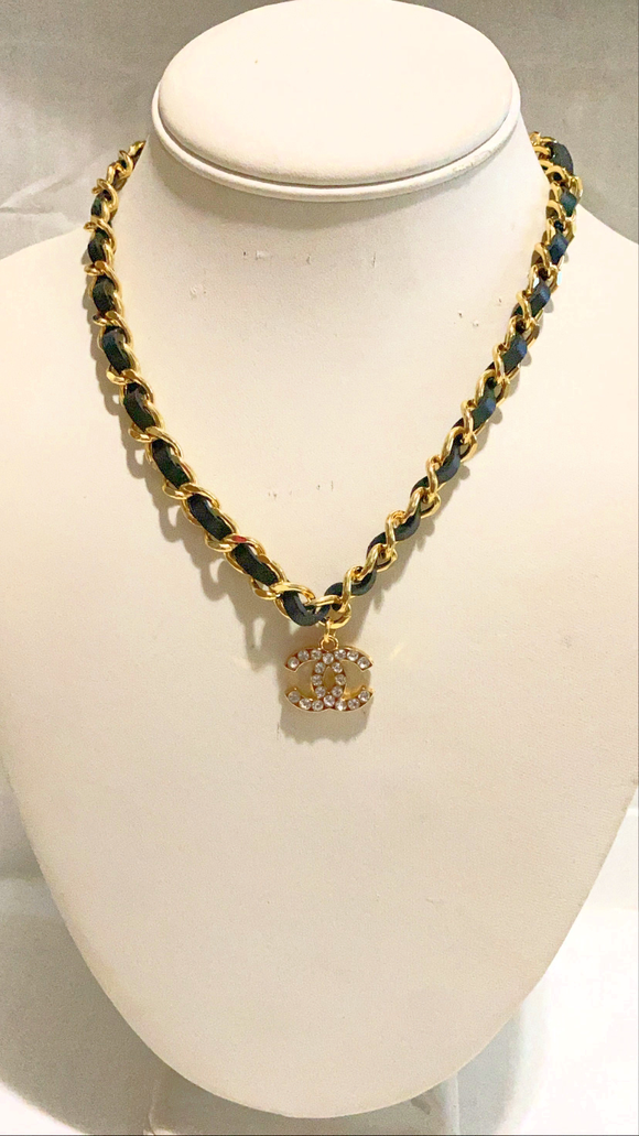 Gold and black twist Necklace